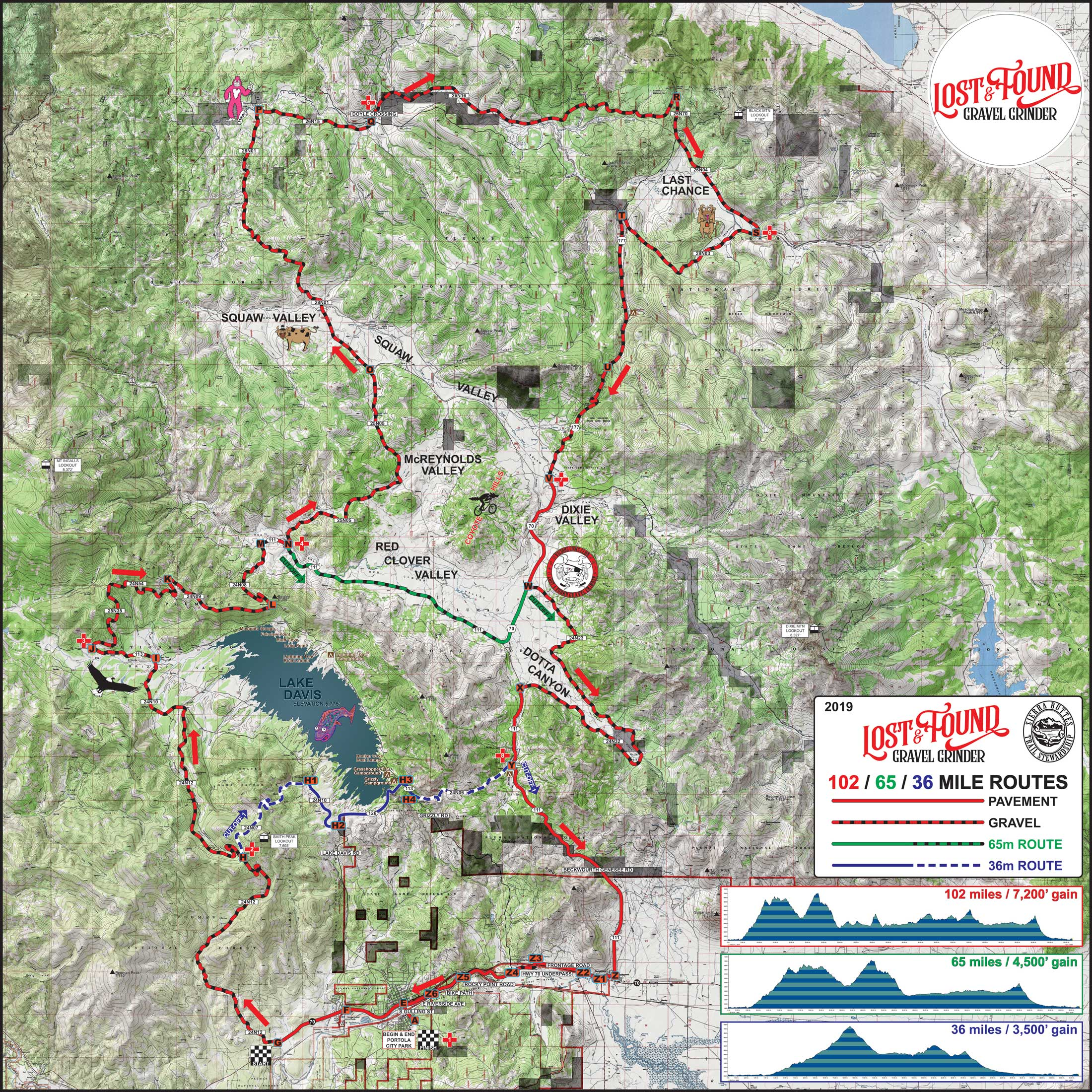 The Ride Lost and Found Gravel Grinder Course Map
