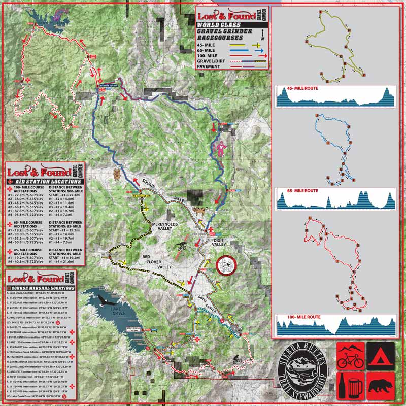 Lost and Found bike ride map