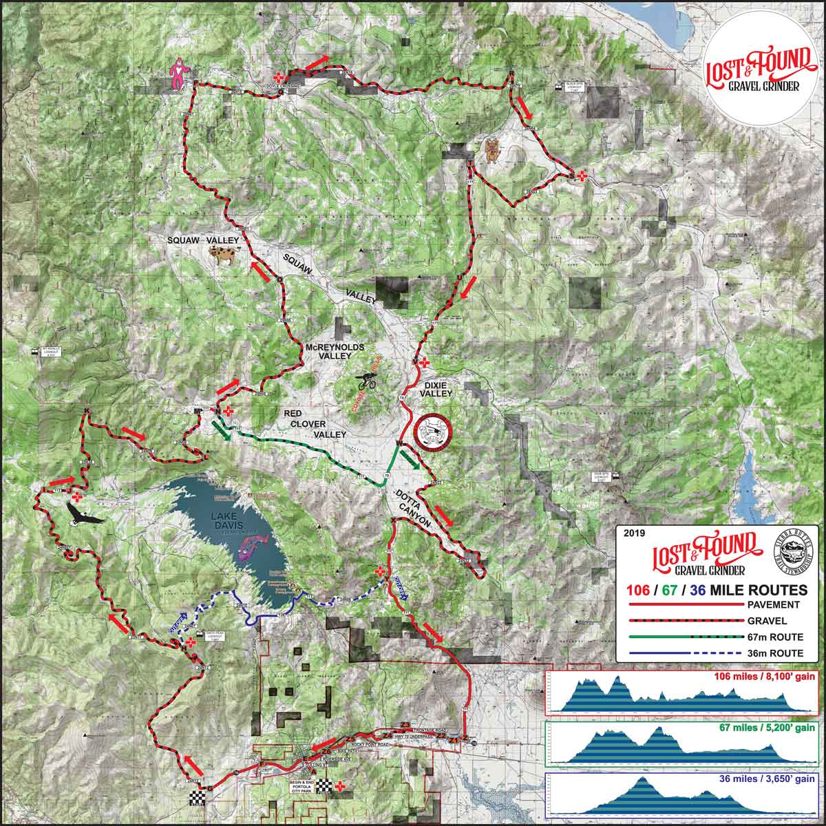 Lost and Found gravel grinder map